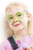 Girl with face painting — Stock Photo
