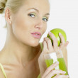 Woman with an apple — Stock Photo #4264828