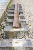 Out of action track on Laigh Milton Viaduct — Stock Photo