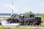 Steam freight train in Tuzla region — Stock Photo