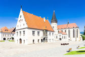 Town Hall Square, Bardejov — Stock Photo