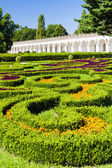 Flower garden of Kromeriz Palace — Stock fotografie