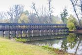 Wooden bridge, Kolarovo — Stockfoto