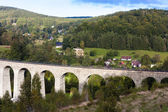 Railway viaduct Novina — Stock Photo
