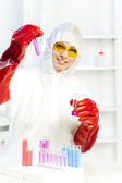 Woman in laboratory — Stock Photo