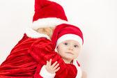 Girls as Santa Clauses — Stok fotoğraf