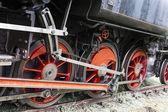 Detail of steam locomotive, Czech Republic — Stock Photo