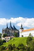 Cathedral of St. Barbara and Jesuit College, Kutna Hora, Czech R — Stock Photo