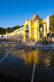 Colonnade with Singing fountain, Marianske Lazne (Marienbad), Cz — Stock Photo