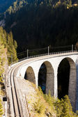 Landwasserviadukt, canton Graubunden, Switzerland — Stock Photo