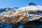 Alps landscape of Oberalppass, canton Graubunden, Switzerland — Stock Photo