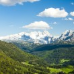 View to Dachstein from the west, Upper Austria-Styria, Austria — Stock Photo #45850551