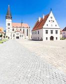 Town Hall Square, Bardejov, Slovakia — Stock Photo