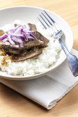 Beef rump steak — Stock Photo