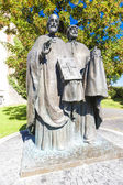 Statue of Saints Cyril — Stock Photo