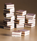 Nougat chocolate candies — Stock Photo
