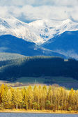 Liptovska Mara with Western Tatras at background, Slovakia — Stock Photo