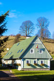 Green cottage, Czech Republic — Stock Photo