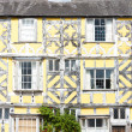 Half timbered house, Ludlow, Shropshire, England — Stock Photo #48606209