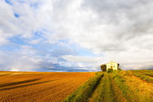 Chapel with field, Plateau de Valensole — Stock Photo