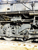 Detail of steam locomotive, Colorado Railroad Museum, USA — Foto Stock