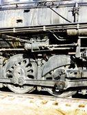 Detail of steam locomotive, Colorado Railroad Museum, USA — Stock Photo