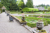 View of Glamis Castle from Italian Garden, Angus, Scotland — Stockfoto
