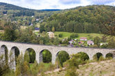 Railway viaduct Novina, Krystofovo Valley, Czech Republic — Stock Photo
