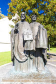 Statue of Saints Cyril and Methodius, Nitra, Slovakia — Stock Photo