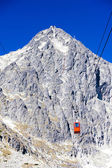 Cable car to Lomnicky Peak, Vysoke Tatry (High Tatras), Slovakia — Stock Photo