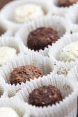 Pralines close up — Stockfoto