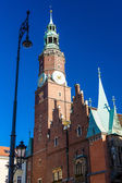 Town Hall on Main Market Square, Wroclaw, Silesia, Poland — Stock Photo