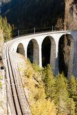 Landwasserviadukt, canton Graubunden, Switzerland — Stock Photo