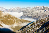 View from Furkapass, canton Graubunden — Stock Photo