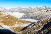View from Furkapass, canton Graubunden — Stock Photo