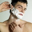 Shaving man — Stock Photo #4886109