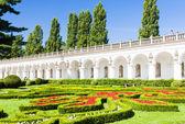 Flower garden of Kromeriz Palace — Stock Photo