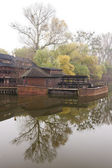 Water mill on boat — Стоковое фото