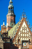 Town Hall on Main Market Square — Stock Photo