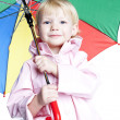 Portrait of little girl with umbrella — Stock Photo #5988757