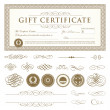 Vector Gift Certificate Set — Stock Vector