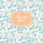 Vector Flower Thank You Frame — Stock Vector