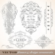 Vector Fancy Victorian Ornament Set. — Image vectorielle