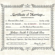 Stock Vector: Vector Vintage Marriage Certificate.
