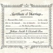 Vector Vintage Marriage Certificate. — Stockvektor