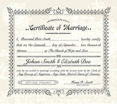 Vector Vintage Marriage Certificate. — Stok Vektör