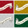 Stok Vektör: Vector Christmas Scroll Frame Set