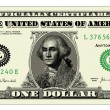 Vector Realistic One Dollar Bill — Vettoriali Stock