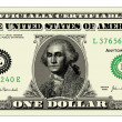 Vector Realistic One Dollar Bill - Stock Vector