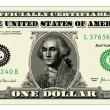 Vector Realistic One Dollar Bill — Stock Vector